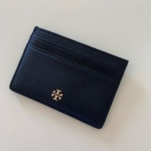 LIKE NEW! Tory Burch black leather card case